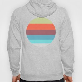 Pastel Blue & Pink Geometric Pattern Hoody