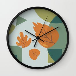 The Leaves Wall Clock