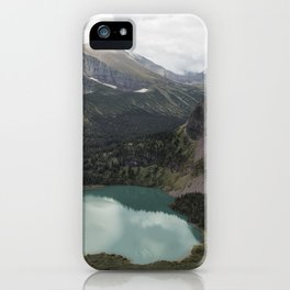 Grinnell Lake from the Trail No. 2 - Glacier NP iPhone Case