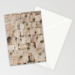 Vegetation on the Wailing Wall (Kotel) - Kotel art - Wall Fine Stationery Cards