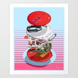 Discman Art Print