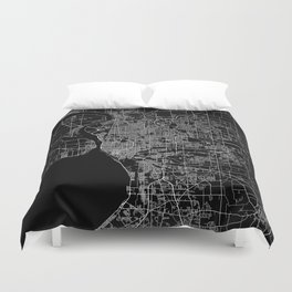Buffalo map New York Duvet Cover