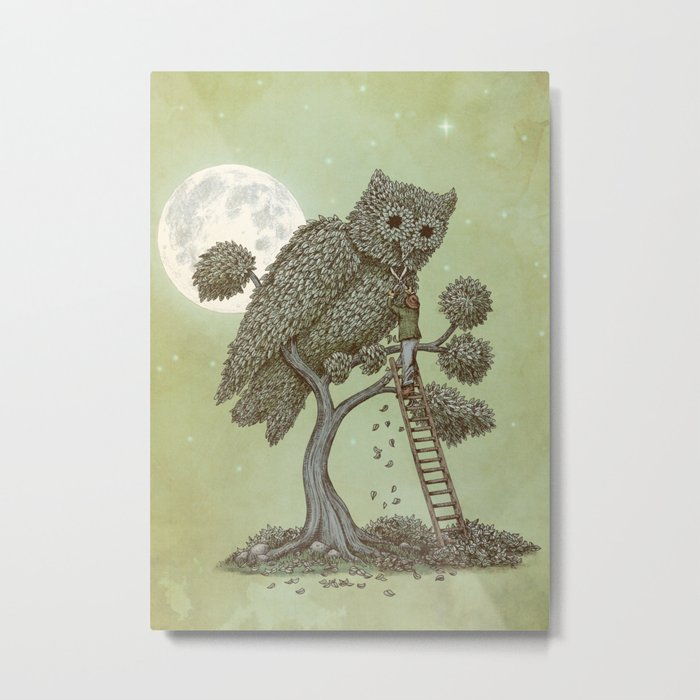 The Night Gardener (Colour Option) Metal Print