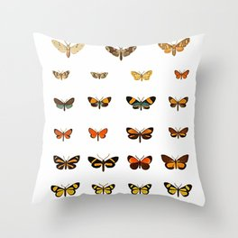 Butterfly Collection - Square Throw Pillow