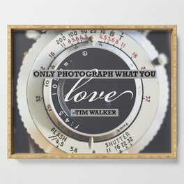 Inspirational Photography Quote Serving Tray