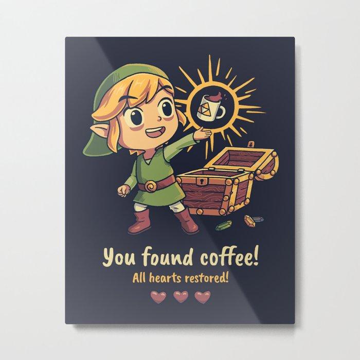The Legendary Coffee Metal Print