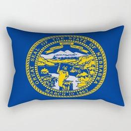 Nebraska State Flag Rectangular Pillow