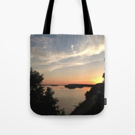 Just Behind the Trees Tote Bag