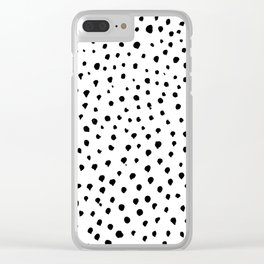 Dalmatian dots black Clear iPhone Case