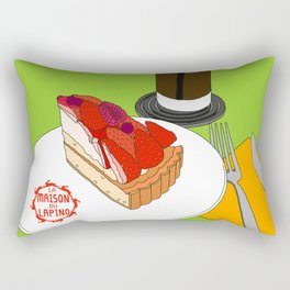 Strawberry Cake Break Rectangular Pillow