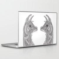 llama Laptop & iPad Skins featuring Llama by Olya Goloveshkina