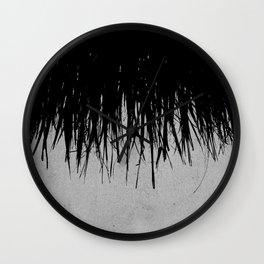 Concrete Fringe Black Wall Clock
