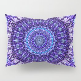 Indulgence of lavendery details in the lace mandala Pillow Sham