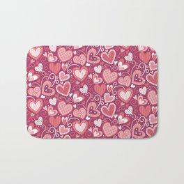 Lovely hearts Bath Mat
