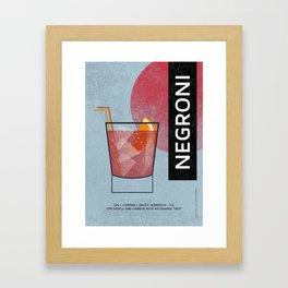 NEGRONI COCKTAIL Framed Art Print