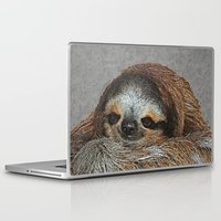 sloths Laptop & iPad Skins featuring SLOTH LOVE by Catspaws