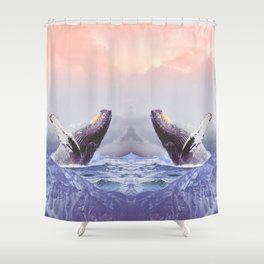Mount Whales Shower Curtain
