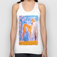 greyhound Tank Tops featuring Greyhound by Caballos of Colour
