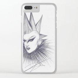 Sasha Velour Fan Art Clear iPhone Case