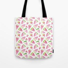 Watercolor Watermelon Pattern Tote Bag