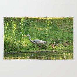 Heron Standing In Water Rug