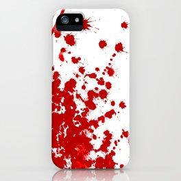 Red Splatter iPhone Case