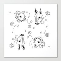 astrology Canvas Prints featuring astrology by AnnaToman