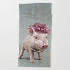 Miss Piggy Beach Towel