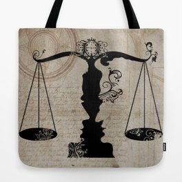 Weigh your Justice  Tote Bag