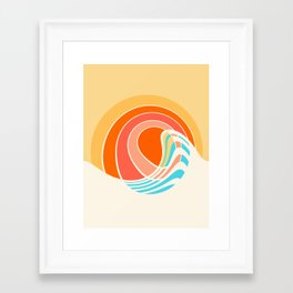 Sun Surf Framed Art Print