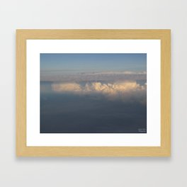 Sunlight Dancing on the Clouds Framed Art Print