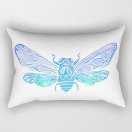Summer Cicada – Blue Ombré Palette Rectangular Pillow