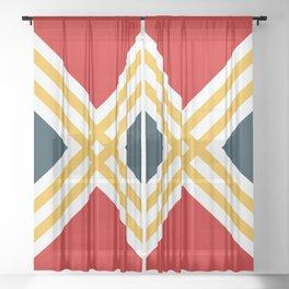 Nautical geometry 3 Sheer Curtain