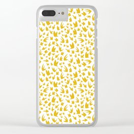 Canary Yellow Flying Birds Clear iPhone Case