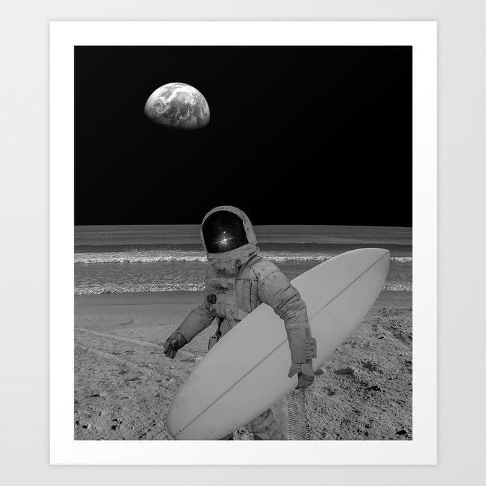 Moon surfer Kunstdrucke