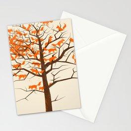 Blazing Fox Tree Stationery Cards