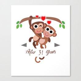 monkeyanniv 31 Canvas Print