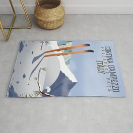 Cortina d'Ampezzo Italy poster Rug