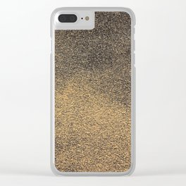 Black Yellow Sandpaper Texture Clear iPhone Case