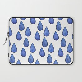 Watercolor raindrops Laptop Sleeve