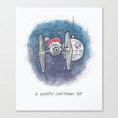 A Novelty Christmas TIE Canvas Print