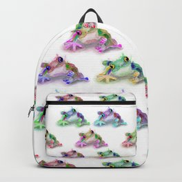 Tree Frog Pattern Backpack