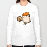 bread Long Sleeve T-shirts featuring Ginger Bread by BinaryGod.com