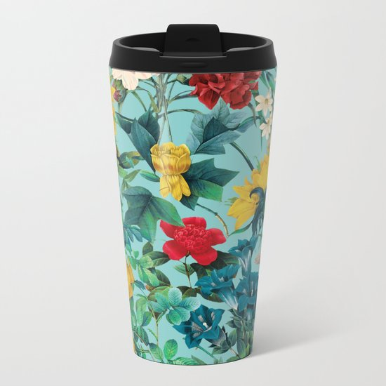 Summer Botanical III Metal Travel Mug