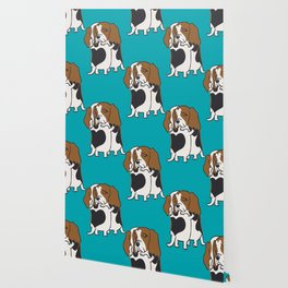 Basset Hound Hugs Wallpaper