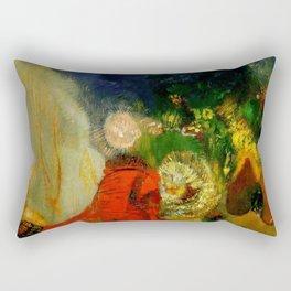 "Odilon Redon ""The Red Sphinx"" Rectangular Pillow"
