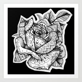 Henna Rose Tattoo Art Print