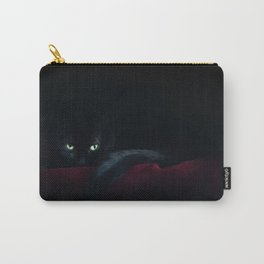 Black Cat In The Night Carry-All Pouch