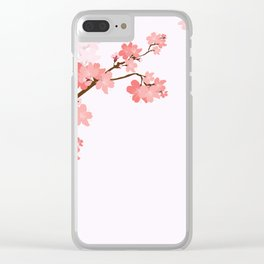 Blooming cherry tree Clear iPhone Case