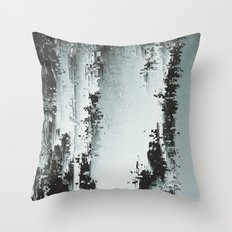 Silver Deposits Throw Pillow